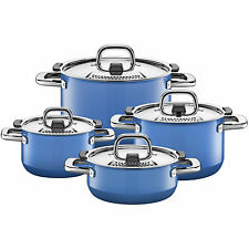 Silit Topf-Set 4-teilig Nature Blue alle mit Deckel Made in Germany induktionsgeeignet
