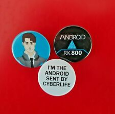 3 Detroit Become Human Connor Android inspired badges set badge pack