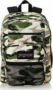 """New JanSport Big Campus Classic Camo Backpack w/ 15"""" Laptop Sleeve"""