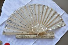 EVENTAIL DE MARIEE ANCIEN NACRE ANTIQUE MOTHER OF PEARL FAN