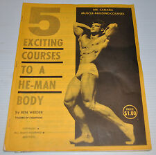 - 5 exciting Courses to a HE MAN BODY by BEN WEIDER book 1960s -