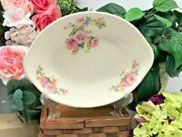 """Crooksville Apple Blossom/ Azalea, Vegetable Serving Bowl, Iva-Lure 9 1/2"""" Oval"""