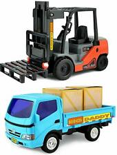 Big Daddy Forklift and Toy Truck Work Load & Pallets Combo Set New