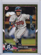 2018 Bowman Camo Parallel BP1 Ronald Acuna XXX52618