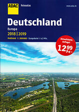 ADAC Reise Atlas 2018 / 2019 Deutschland 1:200000 (+ Europa) Straßenatlas Karte