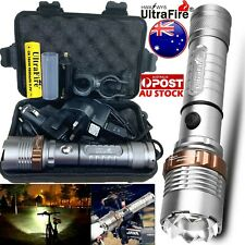 Tactical Rechargeable 450000LM Flashlight Zoom T6 LED Bike Light Torch Headlamps
