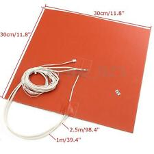 30X30CM 750W @ 220V 3D Printer Silicone Heater Heated Bed Pad 300cm Thermistor