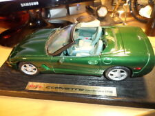 1998 CORVETTE CONVERTIBLE, SPORT CAR, Die Cast Metal Model Car Toy, SCALE: 1/18