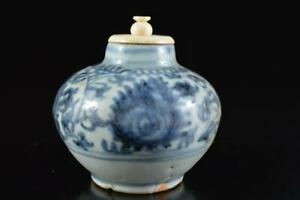 L780: Chinese Flower pattern TEA CADDY Chaire Container with High class lid