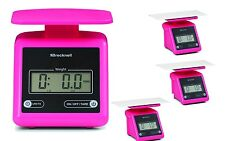 Brecknell PS7 Portable Parcel Shipping Scale 7 lbx0.5oz,Dual,Pink,Package of 4