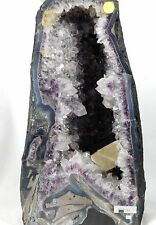 C2) Large Amethyst + Quartz + Calcite Crystal Church Cave Geode Gift Home Decor