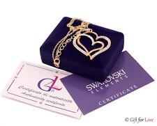 Halskette Frau Gold Swarovski Elemente original G4Love strass Kristalle Herz