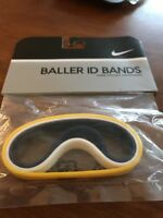 Nike Baller ID Bands Wristbands Bracelets New In Package Adult Navy Yellow White