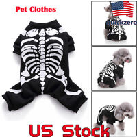 Pet Clothes Dress Halloween Dog Funny Costume Horror Skeleton Chihuahua Clothing
