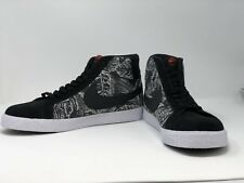 NEW Men's Nike SB Zoom Blazer Mid Skateboarding Shoes Leopard Oreo Size 12