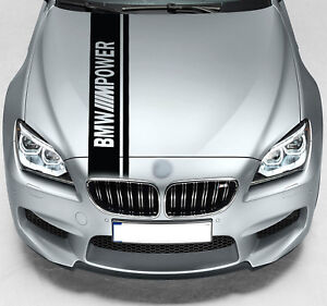 For BMW M Power Dual Rally Hood Stripe VINYL STICKERS BANNER JDM DECALS Graphics