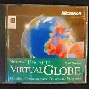 Microsoft Encarta Virtual Globe 1998 Edition CD