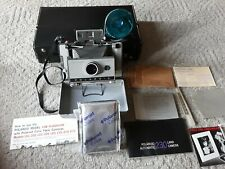 Vintage Polaroid 230 Folding Land Camera with Film, Instruction Book & Case