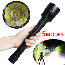 120000LM T6 12-LED 5-mode Tactical Flashlight Torch Super Bright for Camping USA