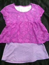 Justice Purple Girls Top Size M