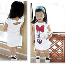 Baby Girls Dress Cartoon minnie mouse cute casual dress kids summer skirt