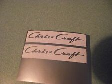 CHRIS CRAFT NEW STYLE  SILVER VINYL DECALS  FOR DUMAS MODEL WOODEN