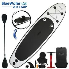Blue Water 10ft Inflatable Stand Up Paddle Board And Kayak Set 2 in 1 SUP+Kayak