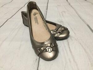 Harborsides Women's Comfort Memory Foam Flat Shoes Bronze Size 8