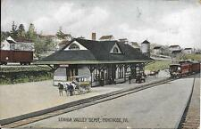 Lehigh Valley Depot, Montrose PA handsome vintage postcard used in 1908