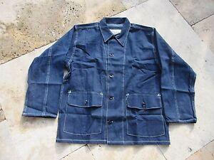 Denim Worker Jacket M-1940 Lutece Mfg US Army USN Usmc Chore Jacket Rockabilly