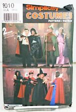 Simplicity 8010 Sewing Pattern Adult Halloween Costumes Devil Witch Robin Hood