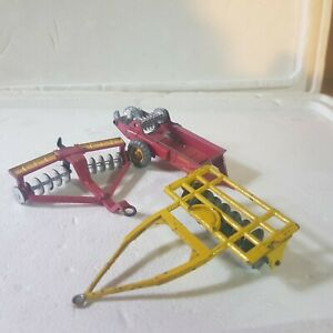 Vintage Dinky massey harris farm equipment models 1:43