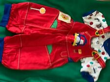 Toddlers gift set - red overalls & short sleeve sports ball print shirt