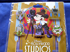 Disney * HOLLYWOOD STUDIOS ATTRACTIONS * New in Package 5 Pin BOOSTER Set