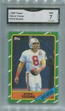 Steve Young 1986 Topps Rookie Graded GMA 7 NM RC #374 49ers HOF