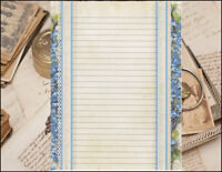 Victorian Inspired Lined Stationery Writing Paper Set, 25 sheets & 10 envelopes