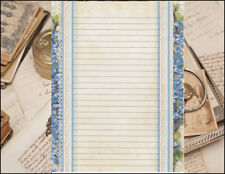 Victorian Inspired Lined Stationery Set 25 sheets & 10 envelopes 8.5 X 11