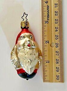 Inge Glas W. Germany  Dwarf/Gnome Glass Christmas Ornament Star Crown