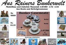 Für Diorama Nr.119 Bunker Casemeate 1:72 Resin