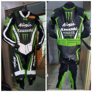 Kawasaki Ninja Motorbike Leather Suit /Motorcycle  Leather Suit