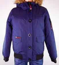 Canada Weather Gear Women's Blue Faux Fur Trim Coat Jacket Size M