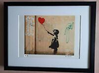 Banksy Lithographie Signée Numérotée /150 + CADRE INCLUS not shepard obey