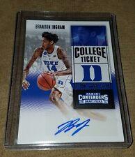 2016-17 Contenders Draft Picks Brandon Ingram Rookie Autograph Lakers/Duke