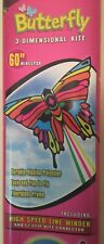 "Butterfly 3D Kite Nib 60"" Wingspan With String, winder & Clip Connector"
