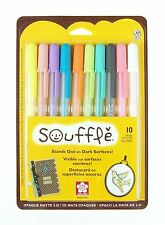 10 x Sakura Souffle Gelly Roll Gel Pen 10 Vibrant COLOUR SET - Made in Japan