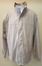 Calvin Klein Tan Water Wind Resistant Front Zipper Lined Men's Jacket Size Large