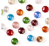 200pcs 4mm Electroplate Faceted Rondelle Transparent Glass Loose Spacer Beads