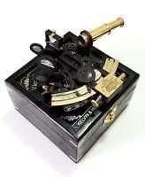Antique Brass Sextant Navigation Nautical Marines Sextants Vintage Box