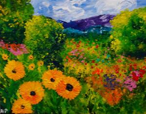 "In a Spring  Natasha Petrosova Original Painting Impressionism 11""x14"""