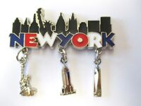 New York Metall Magnet mit 3 Anhängern,FreedomTower,Empire,Liberty